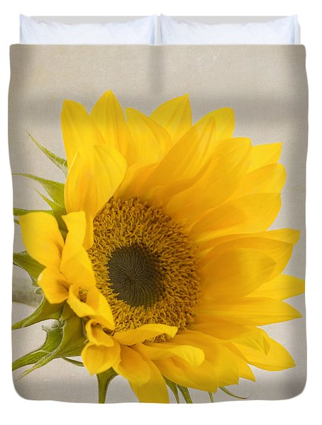 I See Sunshine Duvet Cover by Kim Hojnacki