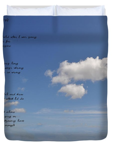 I Want To Believe Duvet Cover by Bill Cannon