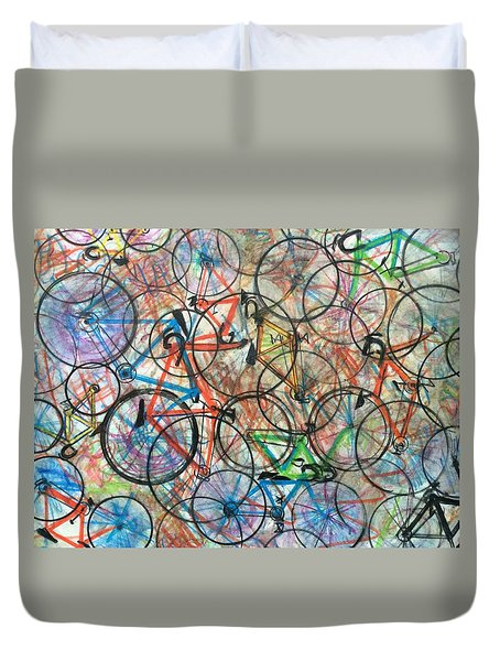 I Want To Ride My Bicycle Bicycle  Duvet Cover by Scott French