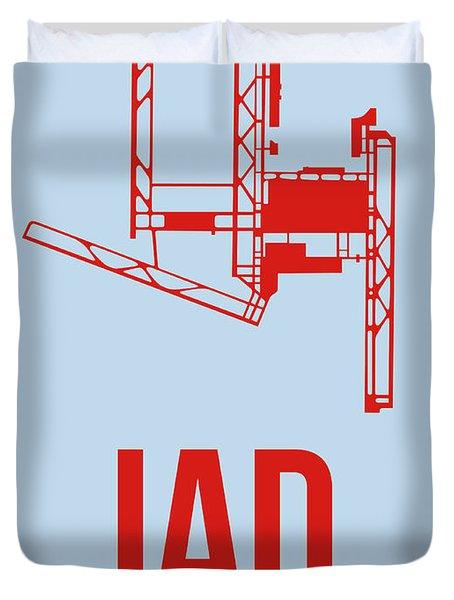 Iad Washington Airport Poster 2 Duvet Cover by Naxart Studio