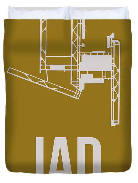 Iad Washington Airport Poster 3 Duvet Cover by Naxart Studio
