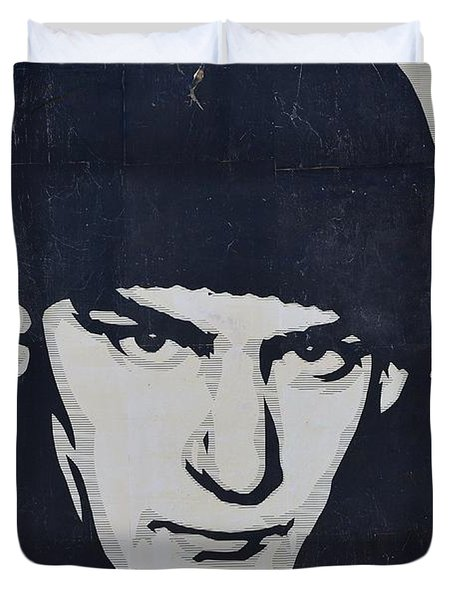 Ian Mackaye Duvet Cover by Allen Beatty