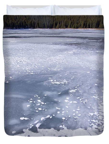Ice And Snow Of Brainard Lake Duvet Cover by Benjamin Reed