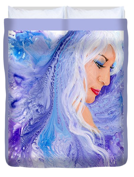 Ice Angel Duvet Cover by Sherry Shipley