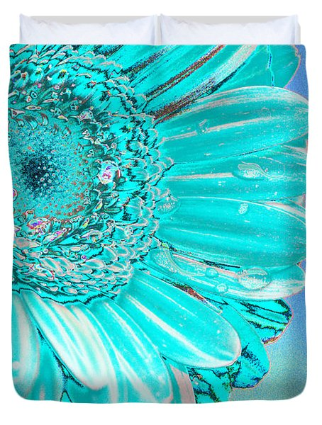 Ice Blue Duvet Cover by Carol Lynch