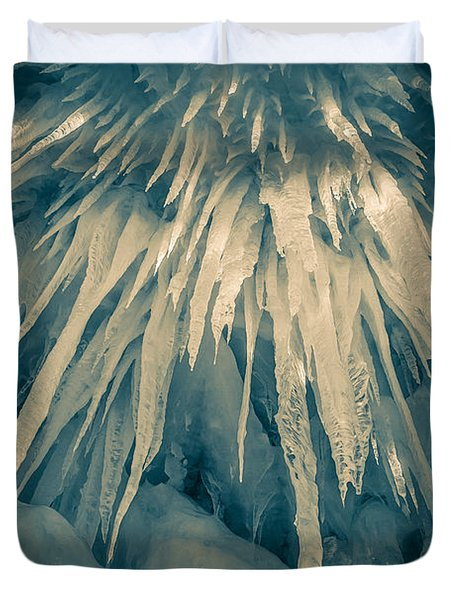 Ice Cave Duvet Cover by Edward Fielding