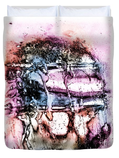 Ice Number Three Duvet Cover by Bob Orsillo
