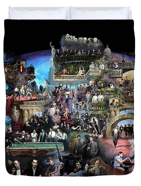 ICONS OF HISTORY AND ENTERTAINMENT Duvet Cover by Ylli Haruni