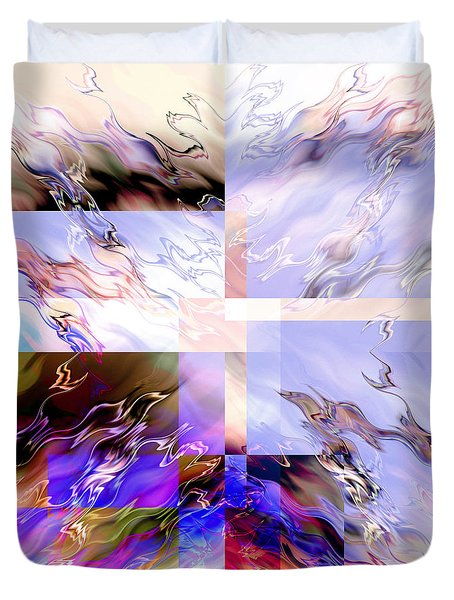 Icy Flames Duvet Cover by Hakon Soreide