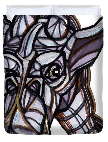 iGiraffe Duvet Cover by Del Gaizo