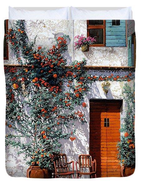il cortile bianco Duvet Cover by Guido Borelli