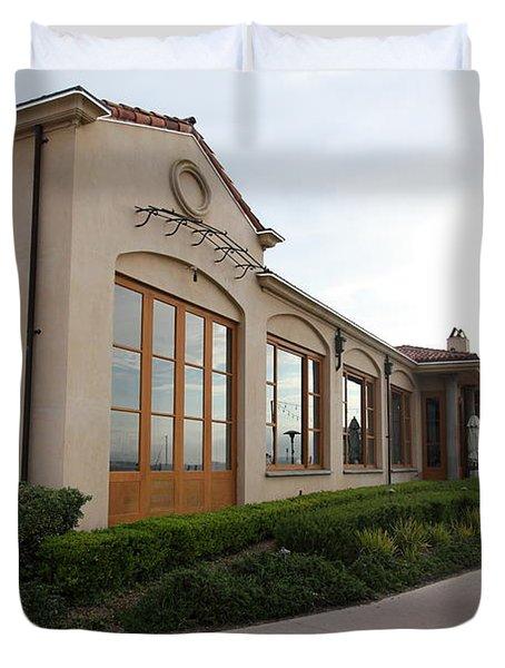 Il Fornaio Italian Restaurant In Coronado California 5D24362 Duvet Cover by Wingsdomain Art and Photography