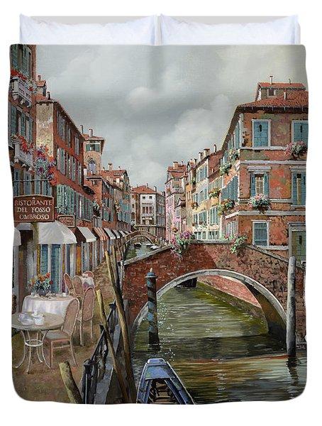 Il Fosso Ombroso Duvet Cover by Guido Borelli