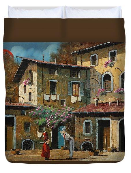 Il Notaio E Il Marinaio Duvet Cover by Guido Borelli