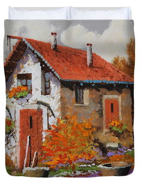 Il Prato Viola Duvet Cover by Guido Borelli