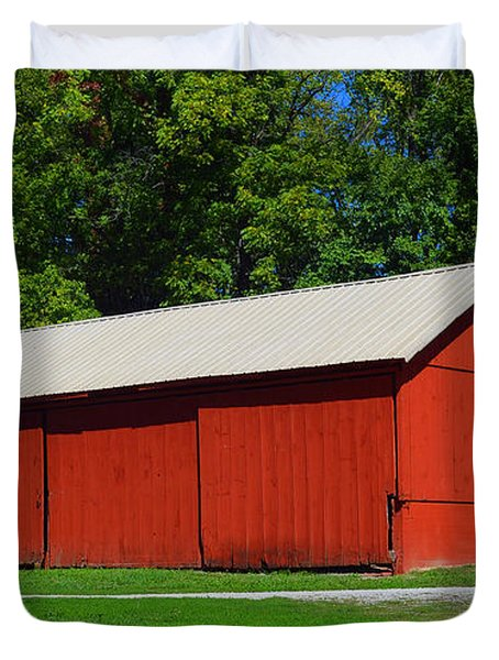 Illinois Red Barn Duvet Cover by Luther   Fine Art