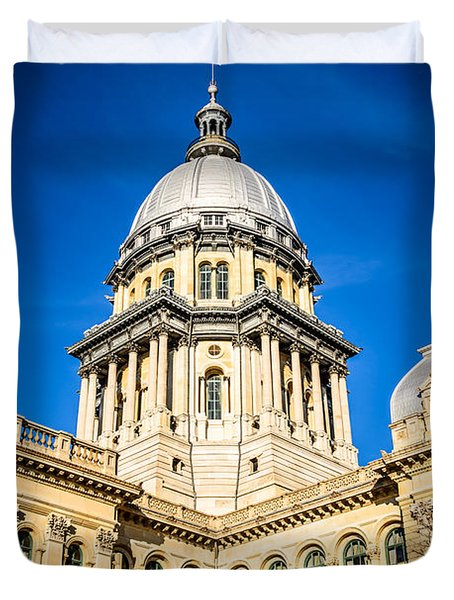 Illinois State Capitol in Springfield Illinois Duvet Cover by Paul Velgos