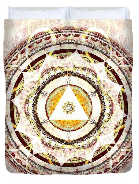 Illumination Circle Duvet Cover by Anastasiya Malakhova