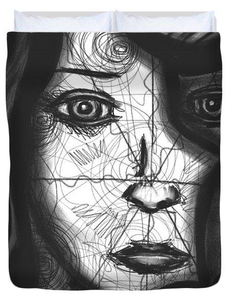 Illumination Of Self Duvet Cover by Daina White