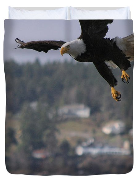 I'm Coming In For A Landing Duvet Cover by Kym Backland