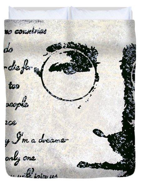 Imagine-John Lennon Duvet Cover by Bryan Dubreuiel
