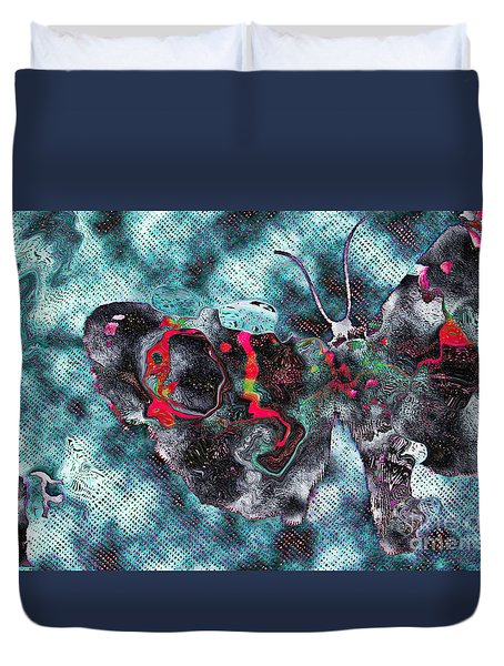 Imagine Number 1 Butterfly Art Duvet Cover by Andy Prendy