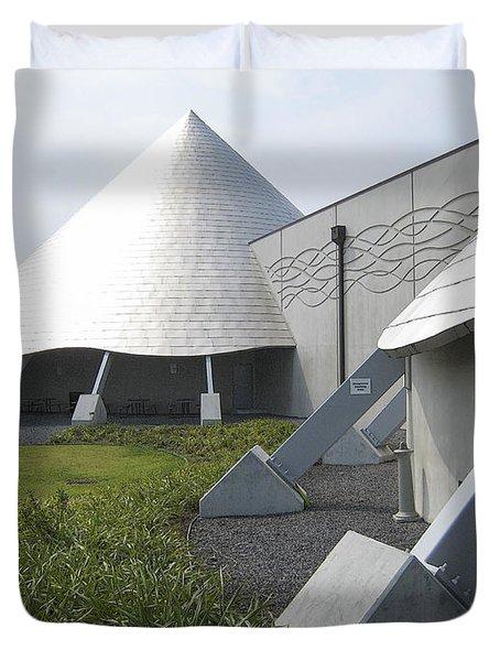 IMILOA ASTRONOMY CENTER - HILO HAWAII Duvet Cover by Daniel Hagerman