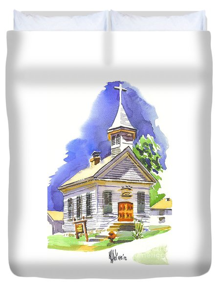 Immanuel Evangelical Lutheran Church Pilot Knob Missouri Duvet Cover by Kip DeVore
