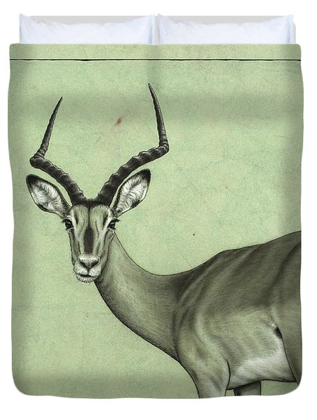 Impala Duvet Cover by James W Johnson