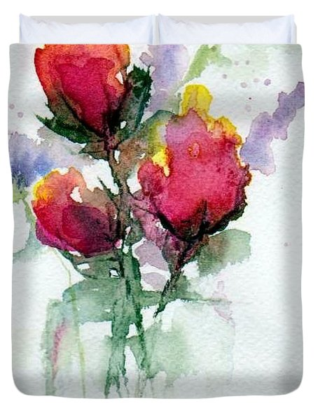 In A Vase Duvet Cover by Anne Duke