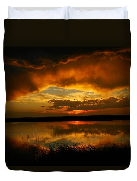 In All His Glory Duvet Cover by Jeff Swan