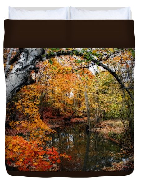In Dreams Of Autumn Duvet Cover by Kay Novy