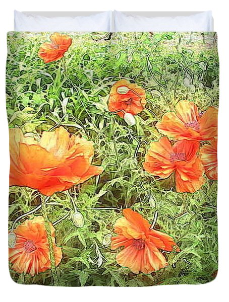 In Flanders Fields The Poppies Grow Duvet Cover by PainterArtist FIN
