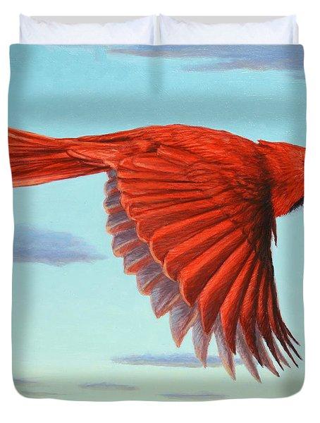 In Flight Duvet Cover by James W Johnson