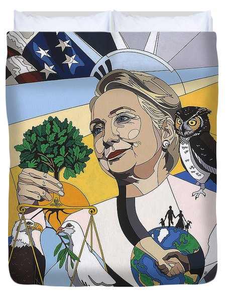 In Honor Of Hillary Clinton Duvet Cover by Konni Jensen