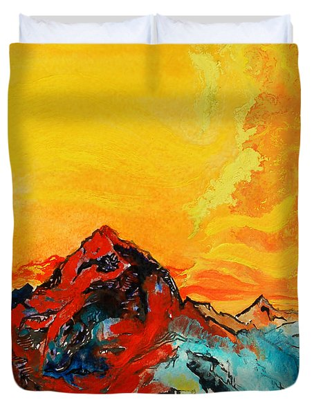 In Mountains Duvet Cover by Joseph Demaree