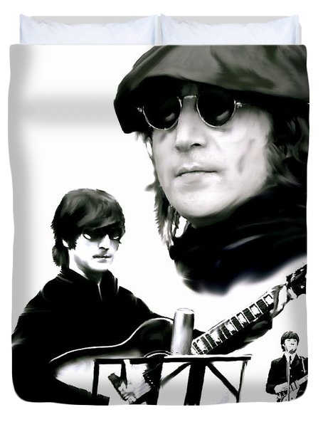 In My Life  John Lennon Duvet Cover by Iconic Images Art Gallery David Pucciarelli
