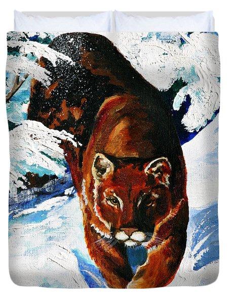 In Pursuit Duvet Cover by Karon Melillo DeVega