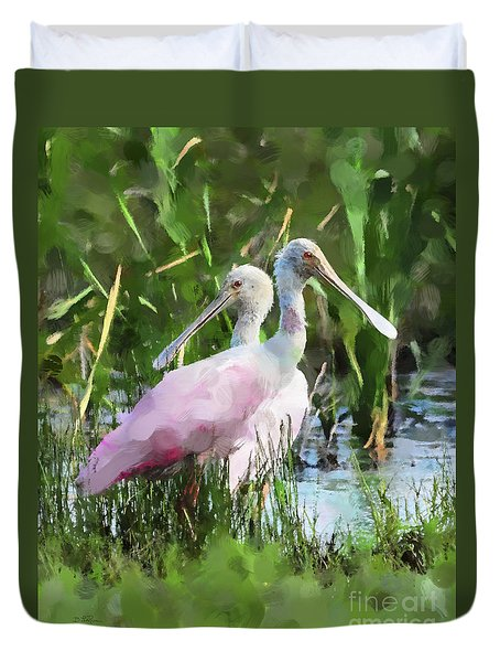 In The Bayou #2 Duvet Cover by Betty LaRue