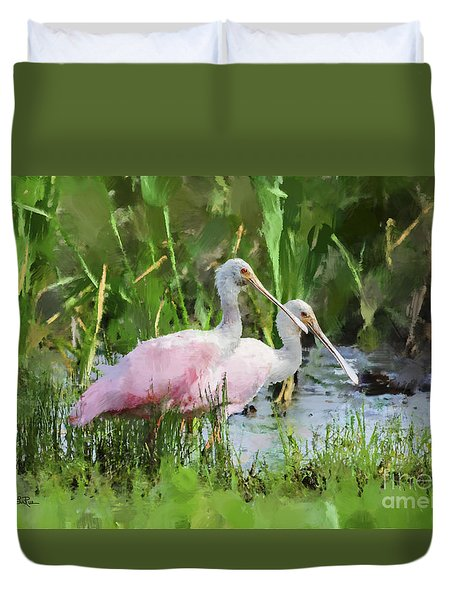 In The Bayou #3 Duvet Cover by Betty LaRue