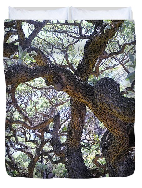 In The Depth Of Enchanting Forest II Duvet Cover by Jenny Rainbow