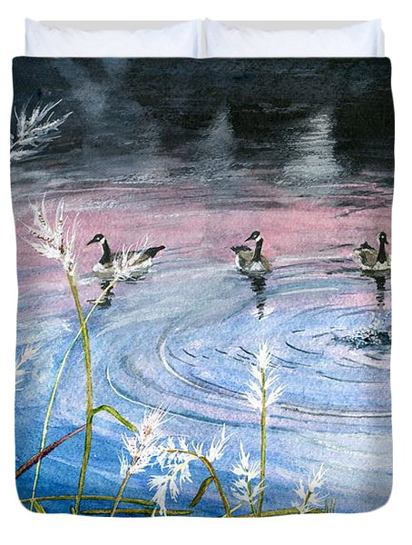 In The Dusk Duvet Cover by Melly Terpening