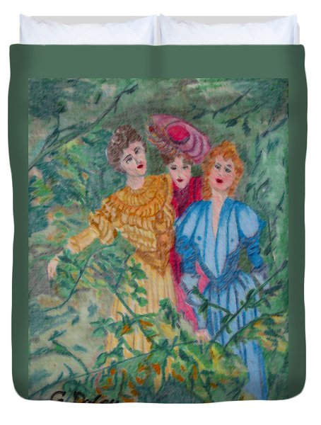 In The Garden Duvet Cover by Gail Daley