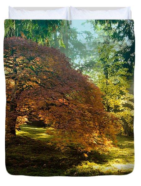 In The Gentle Autumn Light Duvet Cover by Don Schwartz