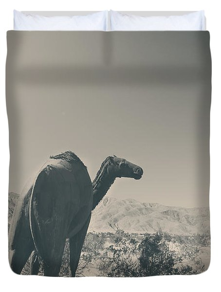 In The Hot Desert Sun Duvet Cover by Laurie Search