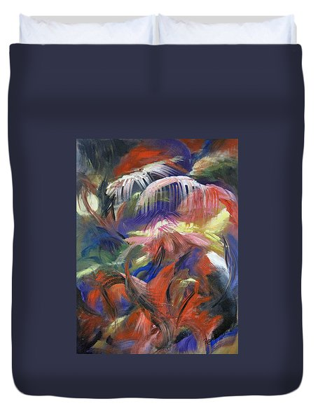 In the Jungle Duvet Cover by Roberta Rotunda