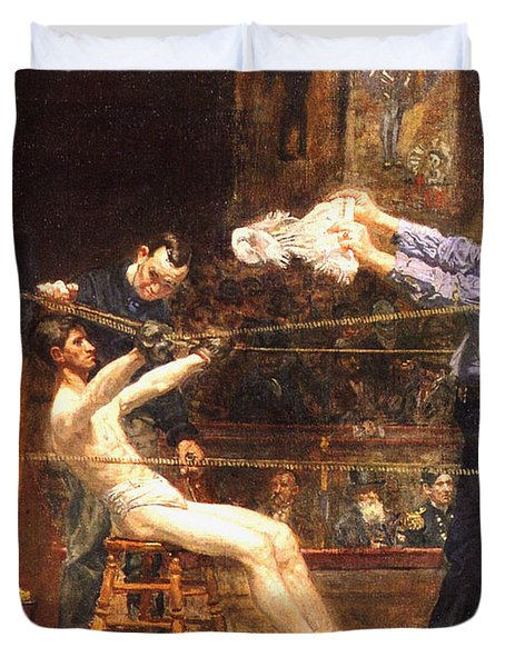 In The Mid Time Detail Duvet Cover by Thomas Eakins