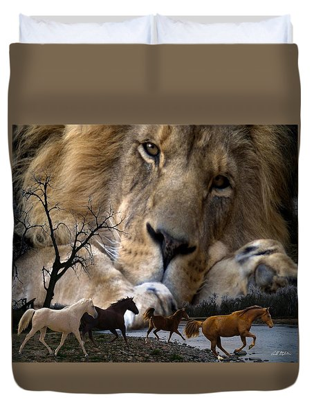 In The Presence Of Elohim Duvet Cover by Bill Stephens