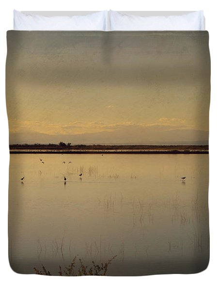 In These Peaceful Moments Duvet Cover by Laurie Search