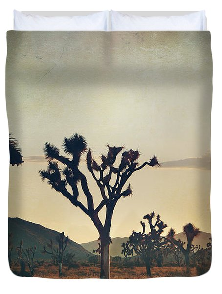 In Your Arms As The Sun Goes Down Duvet Cover by Laurie Search